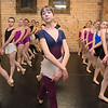 Mikayla Rudolph (center) and other ballet dancers get into formation during a rehearsal of Swan Lake at the Mankato Ballet Company on Tuesday. The majority of dancers are in the tenth and eleventh grade. Photo by Jackson Forderer