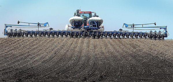 John Cross<br /> Luke Lantz plants a field 36 rows at a time southwest of Lake Crystal.
