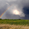 "A rainbow forms near ominous clouds on the back side of a severe thunderstorm that rolled through the Mankato area Wednesday evening. Widespread reports of hail as large as an inch were reported, but no tornado touchdowns in the Mankato area. For more photos from Wednesday's storm go to  <a href=""http://www.mankatofreepress.com"">http://www.mankatofreepress.com</a>."