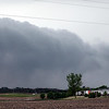 A wall cloud forms south of Mankato Wednesday as a severe storm rolls into the area. Widespread reports of hail as large as an inch were reported, but no tornado touchdowns in the Mankato area.