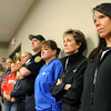Waseca community members listen during a press conference about the arrest of a 17-year-old high school student who authorities say was planning a Columbine-style attach on a Waseca school.