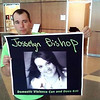 Jamie Erickson holds up a photo of Josselyn Bishop, with a copy of her name as it had been written by her, after Damone Christopher Williams-Tillman was sentenced Tuesday to life in prison for murdering her.