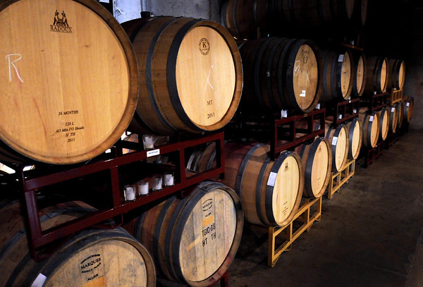 The barrel room of the Chankaska Creek Ranch and Winery will be available for special events.