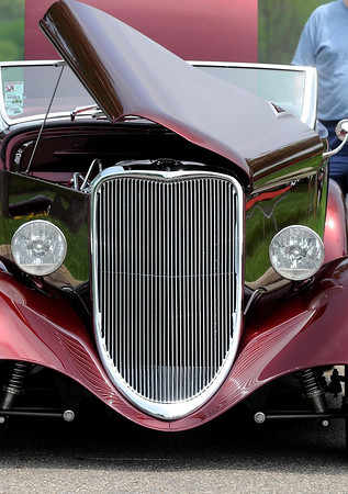 Pat Christman<br /> A restored street rod waits to be judged during Saturday's voting.