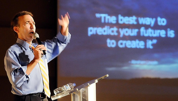 Meteorologist Paul Douglas was the keynote speaker at the annual Senior Expo at the Verizon Wireless Center on Tuesday.