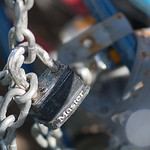 A long chain at Key City Bike holds a row of bikes in place with a padlock. The nonprofit organization has recently had bikes stolen from its property, something which volunteers believe wil ...