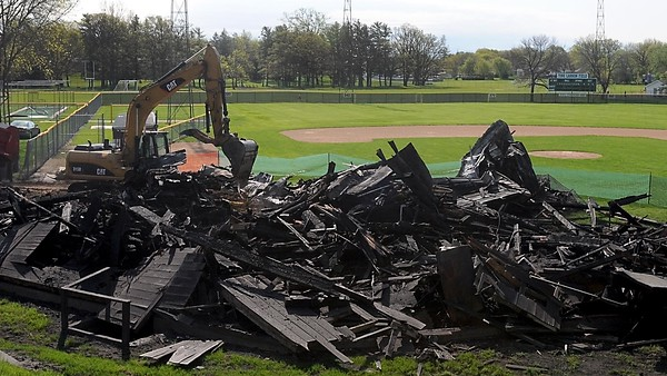 Tink Larson Field demolition 1