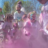 Children play with the the remaining pink powder that was used in the 2nd annual Monroe Color Run held on Saturday at Spring Lake Park. The run is a PTO sponsored event that benefits Monroe Elementary's snack cart program. Photo by Jackson Forderer