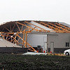 A building along Le Sueur County Highway 112 was damaged by Wednesday's straight-line winds that reportedly reached into the 70-mph range.