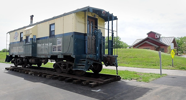 John Cross<br /> The caboose that for years was parked in front of the old Mankato Depot now is parked at the entrance to Riverfront Park.