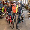 "From left, Justin Rinehart, Jon Andersen and Jenna Rinehart at Nicollet Bike and Ski. Andersen, former owner of the Flying Penguin, said he is carrying on the family tradition of selling ski gear since the 1930's in a sport he loves and added, ""I can't think of doing anything else but this."" Photo by Jackson Forderer"