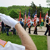 Color Guards parade into the Viet Nam Memorial prior to a Memorial Day ceremony there on Monday. Photo by John Cross