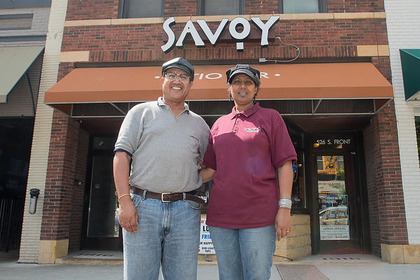 Lencho (left) and Dermi Jarso are the new co-owners of Savoy. The restaurant and bar will feature Ethiopian foods. Photo by Jackson Forderer