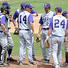 Minnesota State head coach Matt Magers talks with his team during their first game against St. Cloud State Saturday at Franklin Rogers Park.