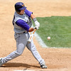 Minnesota State's Ben Kincaid takes a swing during their first game against St. Cloud State for the NSIC championship Saturday.