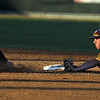 Minnesota State's Connor McCallum dives to beat University of Minnesota Duluth's Cody Aasen to second base for an out during the third inning of their NSIC tournament game Wednesday at Franklin Rogers Park.