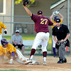 Minnesota State's Nolan Johnson scores on a passed ball as University of Minnesota Duluth pitcher Jordan Smith covers the plate during the second inning of their NSIC tournament game Wednesday at Franklin Rogers Park.