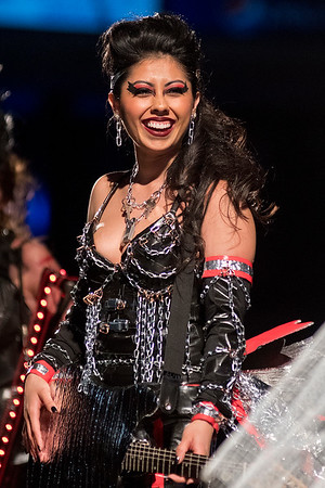 Bianca Salazar with True Value smiles during the final lineup at the Raw Fusion fashion show. Photo by Jackson Forderer