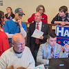 Jim Hagedorn (center) talks with friends and supporters at the Mankato Event Center as election results trickled in on Tuesday evening. Hagedorn is locked in a dead heat with opponent Dan Feehan. Photo by Jackson Forderer