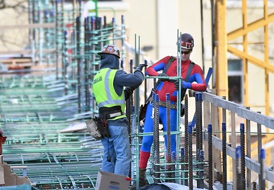 Spider Man takes construction job