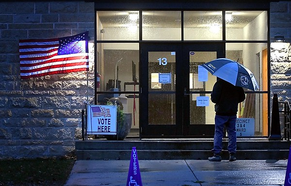 Early morning voter