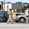 Collision snarls traffic at Madison and Victory