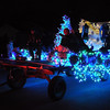 Pat Christman<br /> A float glows as it glides down Mound Avenue Friday.