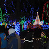 Pat Christman<br /> Visitors tour Sibley Park after the Kiwanis Holiday Lights were turned on Friday night for the first time this year.