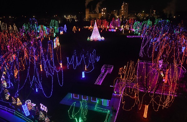 Kiwanis Holiday Lights from on high