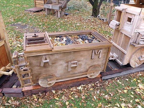 Wood train coal car