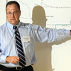 Pat Christman <br /> MnDOT's Glen Coudron explains the detour plan during Thursday's meeting.