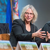 Suzanne Simard, a professor of forest ecology at the University of British Columbia, speaks during a panel discussion held at the Nobel Conference on Wednesday. Photo by Jackson Forderer