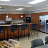 The kitchen area of the fire fighters area on the second floor of the Mankato Public Safety Center  features three refrigerators _ one for each of the three shifts groceries that are purchased by fire fighters themselves.