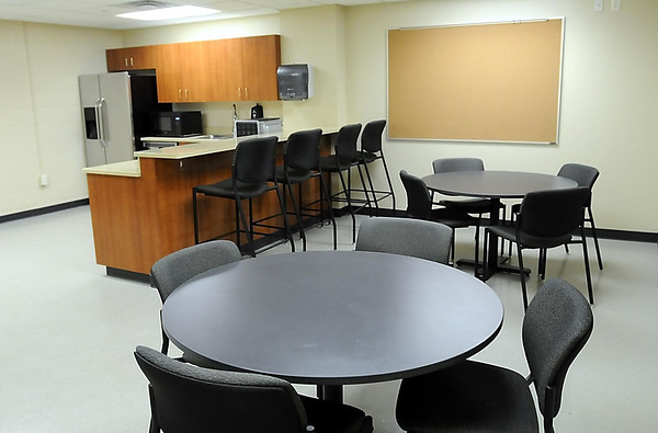 An employees break room is located in the lower level.