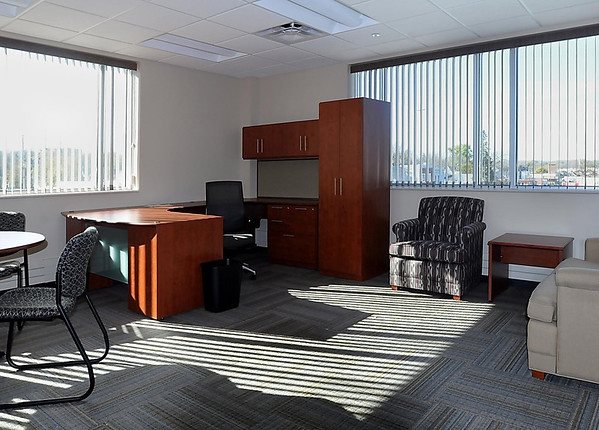 Adminstrators' offices are located on the third floor of the new Mankato Public Safety Center.
