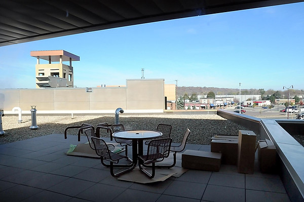 An outside patio is located outside of the fire fighters living area on the second level.