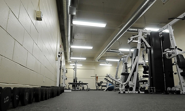 The newly remodeled Mankato Public Safety Center includes a work-out/fitness center in the lower level. Equipment was either donated or purchased by the unions.