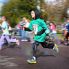 Pat Christman<br /> Young runners streak by during the Mankato Marathon Kids K Saturday at MSU.