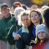 John Cross<br /> Spectators are shoulder-to-shoulder Sunday as they watch runners near the finish line at the Mankato Marathon.