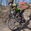 Conner Harbouth descends down a hill during the Minnesota State Mountain Bike Championship Race held at Mount Kato on Saturday. Photo by Jackson Forderer