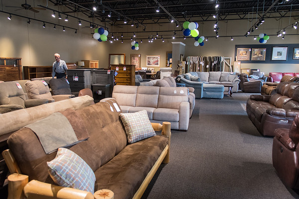 The new clearance area at Johnson Furniture includes sofas, chairs, tables, rugs, dressers, head boards and other home furnishings.