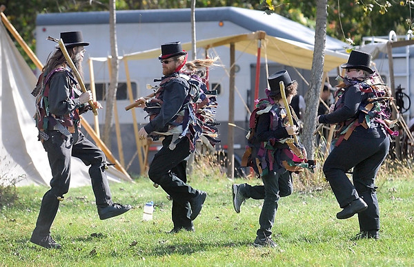 Pat Christman <br /> A group performs a traditional English dance during History Fest Saturday.