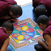 The mandala the monks are working on at MSU has an outer, inner and secret meaning.