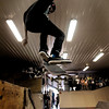 John Cross<br /> A competitor participating in the skateboarding competition at Chesley Skate Park on Saturday goes air-borne off a ramp.
