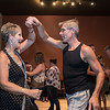 Fred Falentin (right) and his wife Bonnie Lantz salsa dance during a class held at Burrito Express on Fridays. The classes started three weeks ago, when Falentin and Lantz said they started, and are open to anyone for $10 a session. Photo by Jackson Forderer