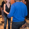 Michael Isaac (right) salsa dances with Heather Ribbe at a class held at Burrito Express. Ribbe said it was her first time at the salsa class, while Isaac said he had experience salsa dancing in the past. Photo by Jackson Forderer