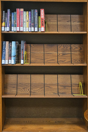 One librarian at the Blue Earth County Library noted that the selection of new non-fiction books from the past nine months is sparse. Photo by Jackson Forderer