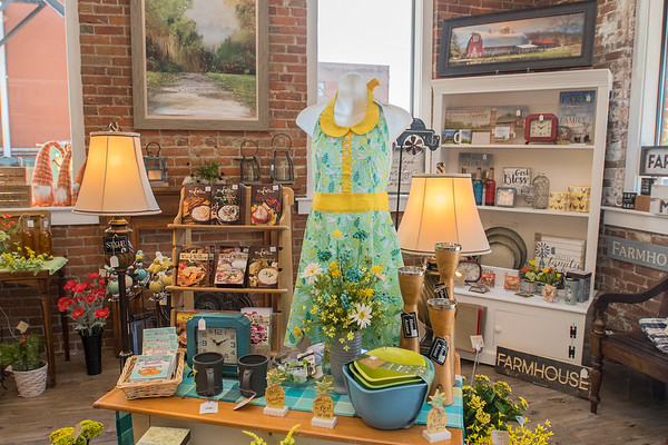 A section of the new Inspired store in New Ulm that features home decor items, artificial flowers, eco-friendly products and children's toys. Photo by Jackson Forderer