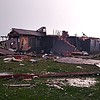Tornado damaged home after