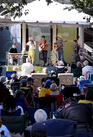 The Cactus Blossoms perform for the crowd during the Rock Bend Folk Festival Saturday in St. Peter.